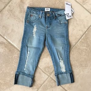 Hudson little girls roll crop skinny jeans